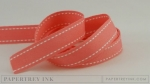 "Berry Sorbet 5/8"" Saddle Stitch Ribbon (5 yards)"