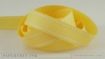 "Lemon Tart 5/8"" Saddle Stitch Ribbon (5 yards)"