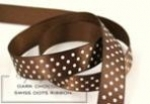 "Dark Chocolate 5/8"" Saddle Stitch Ribbon (5 yards)"