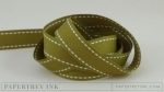 "Ripe Avocado 5/8"" Saddle Stitch Ribbon (5 yards)"