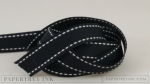 "True Black 5/8"" Saddle Stitch Ribbon (5 yards)"
