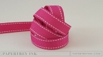 "Raspberry Fizz 5/8"" Saddle Stitch Ribbon (5 yards)"