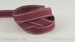 "Scarlet Jewel 5/8"" Saddle Stitch Ribbon (5 yards)"