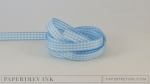 "Spring Rain 3/8"" Gingham Ribbon (5 yards)"