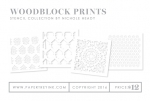 Woodblock Prints Stencil Collection (set of 4)