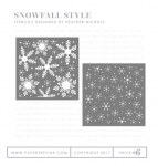 Snowfall Style Stencil Collection (set of 2)