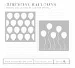 Birthday Balloons Stencil Collection (set of 2)