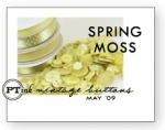 Spring Moss Vintage Buttons