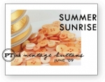 Summer Sunrise Vintage Buttons