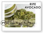 Ripe Avocado Vintage Buttons