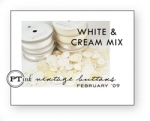 White & Cream Mix Vintage Buttons