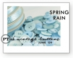 Spring Rain Vintage Buttons