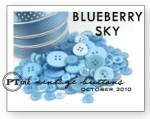 Blueberry Sky Vintage Buttons