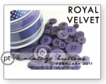Royal Velvet Vintage Buttons