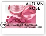 Autumn Rose Vintage Buttons